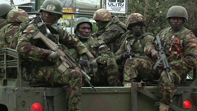 Forces arrive at Westgate Shopping Mall