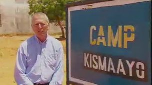 BBC reporter Mark Doyle in Kismayo, Somalia, 22 September 2013.