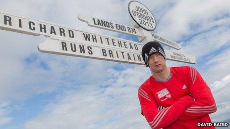 Richard Whitehead marathon challenge