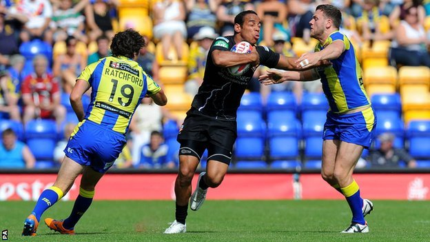 Warrington take on Huddersfield earlier in the season