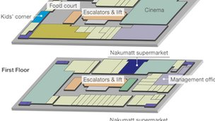Diagram of the shopping centre