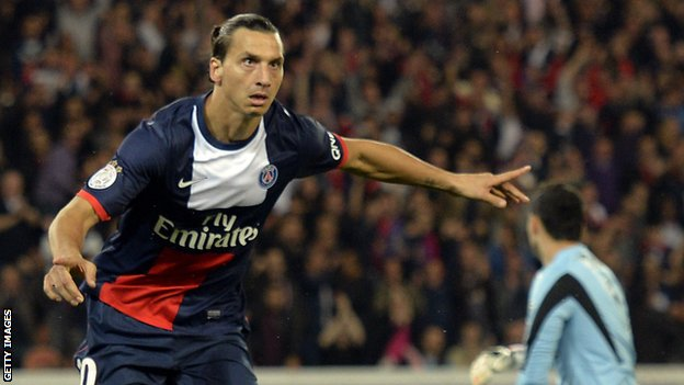 Paris St-Germain's Zlatan Ibrahimovic