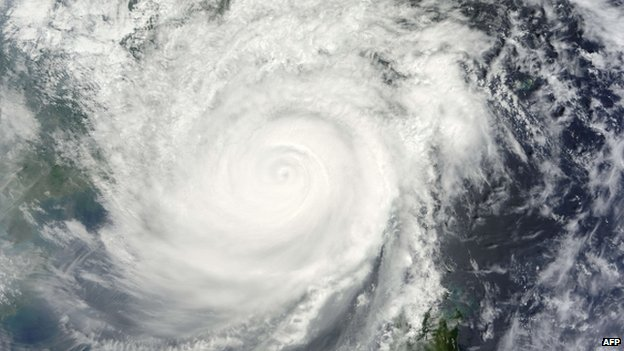 Nasa satellite image shows Typhoon Usagi nearing China, 22 September 2013