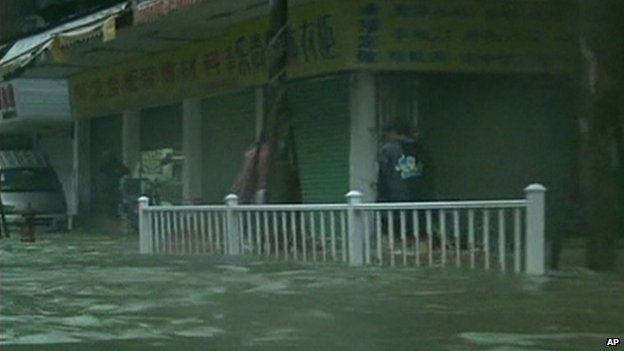 Floods in Shantou, Guangdong province, China, 22 September 2013
