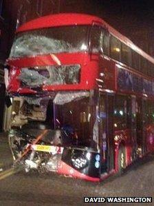 Bus wreckage