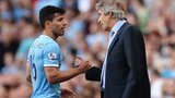 Manuel Pellegrini (left) and Sergio Aguero