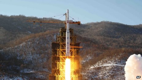 File photo: North Korea's Unha-3 rocket lifts off from the Sohae launch pad in North Korea, 12 December 2012.