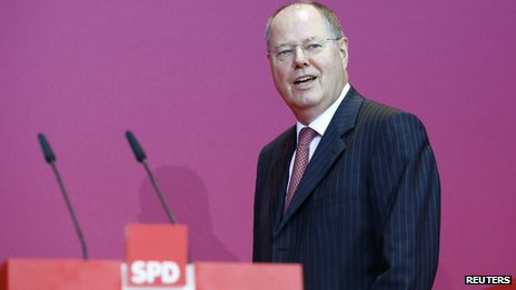 SPD leader Peer Steinbrueck
