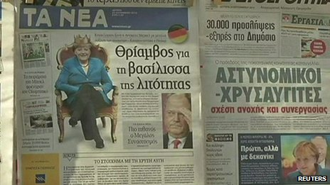 Greek newspapers