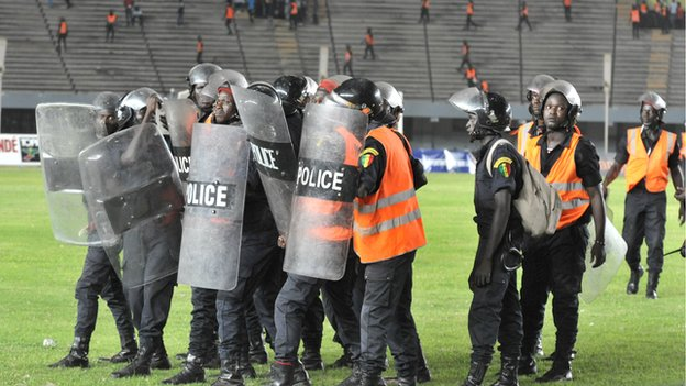 Riots at the Leopold Sedar Senghor stadium