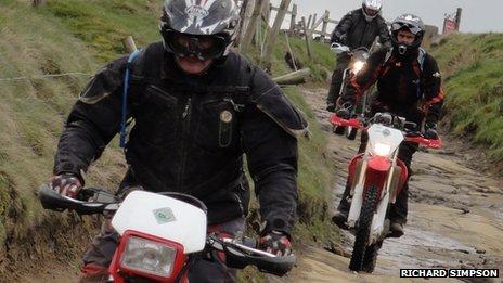 Peak District bikers