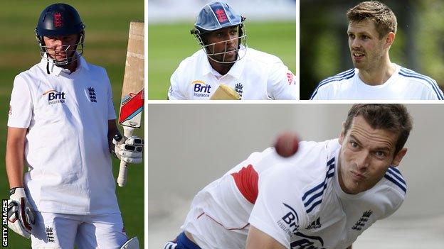 Gary Ballance, Michael Carberry, Boyd Rankin and Chris Tremlett