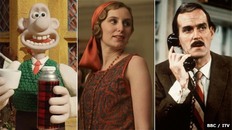 Wallace and Gromit, Downton Abbey and Fawlty Towers