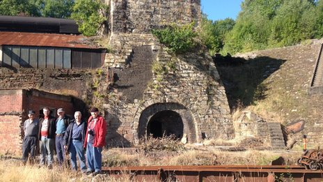 Brymbo Heritage Group at the Number 1 Furnace