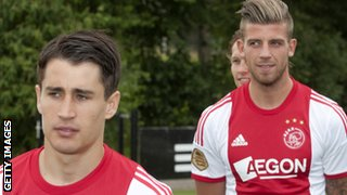 Bojan Krkic and Toby Alderweireld