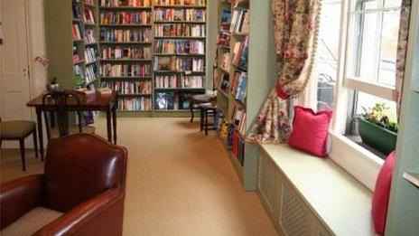 Mr B's Emporium bibliotherapy room