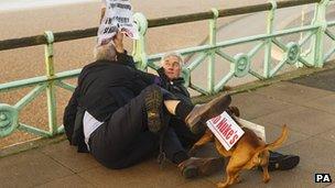 Iain Dale and Stuart Holmes in scuffle on Brighton promenade