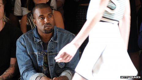 Kanye West on the front row at New York Fashion Week