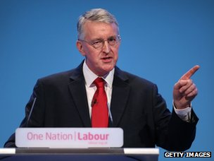 """Hilary Benn condemned changes to housing benefit as """"immoral""""."""