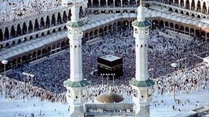 Grand Mosque and Kabaa in Mecca