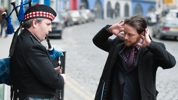 James McAvoy plays corrupt Scottish police officer Bruce Robertson in Filth
