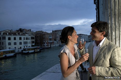 Italian lovers in Venice
