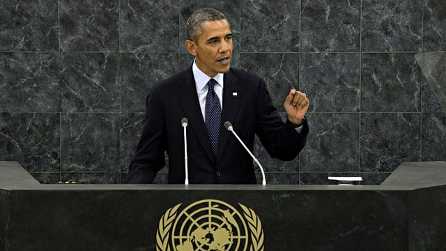 President Barack Obama addresses the UN General Assembly