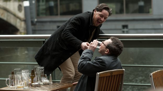 The film also stars Eddie Marsan as Robertson's supposed best-friend Bladesey