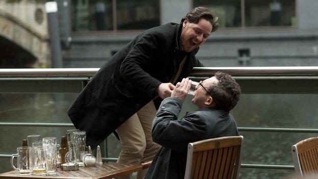 The film also stars Eddie Marsan as Robertson's supposed best-friend Bladesey