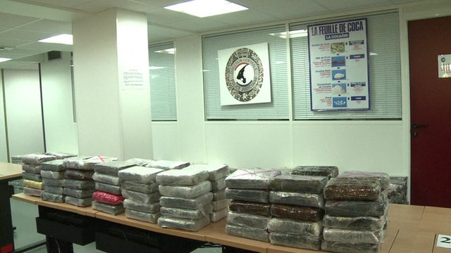 Screen-grab of cocaine haul