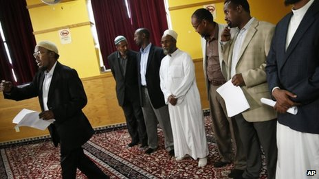 Imams and Muslims speak out against extremism in the Nairobi shopping mall attack, at the  Abubakar As-Saddique in Minneapolis on 23 September 2013