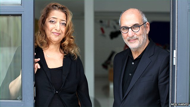 Zaha Hadid and Alan Yentob