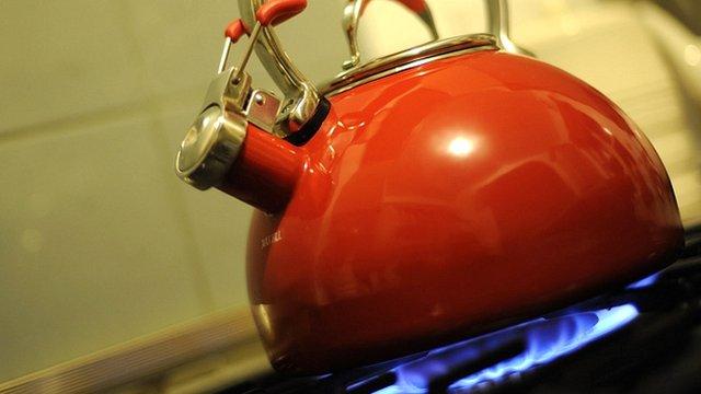 kettle on a hob