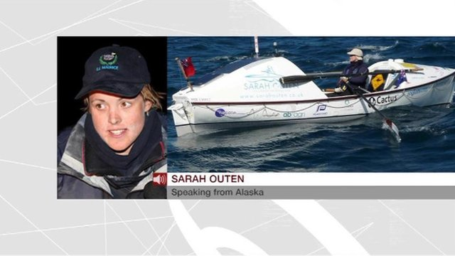 Sarah Outen speaking from Alaska