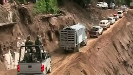 Aid for cut-off Mexican towns