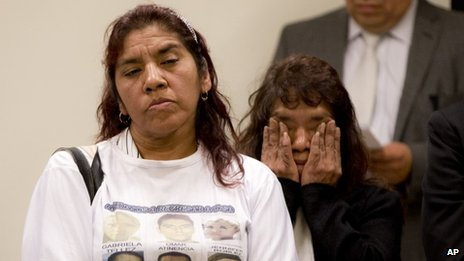 Julieta Gonzalez, mother of Jennifer Robles, one of the Heaven bar victims