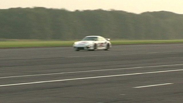 Mike Newman's blind land speed record drive