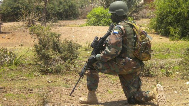 African Union troops regularly engage with al-Shabab militants in southern Somalia.