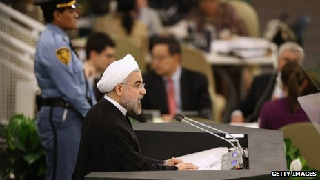 Hassan Rouhani addressing the General Assembly (24/09/13)