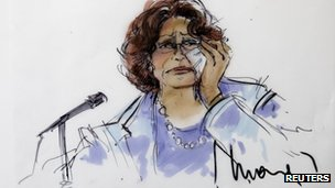 Sketch of Katherine Jackson