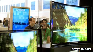 Samsung curved screen TV