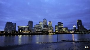 A view of the City of London