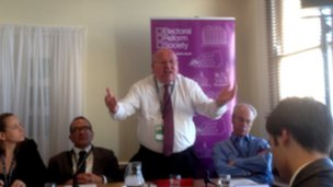 Mike Gapes at Fabian fringe meeting