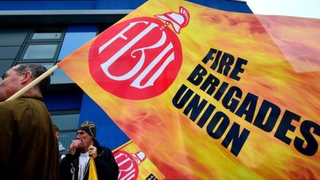 Striking firefighters