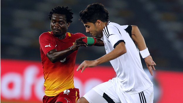 Egypt and Ghana will go head to head for a place in Brazil