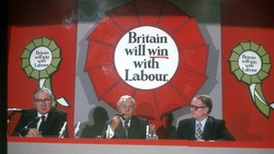 Harold Wilson and Jim Callaghan launch Labour's 1974 manifesto