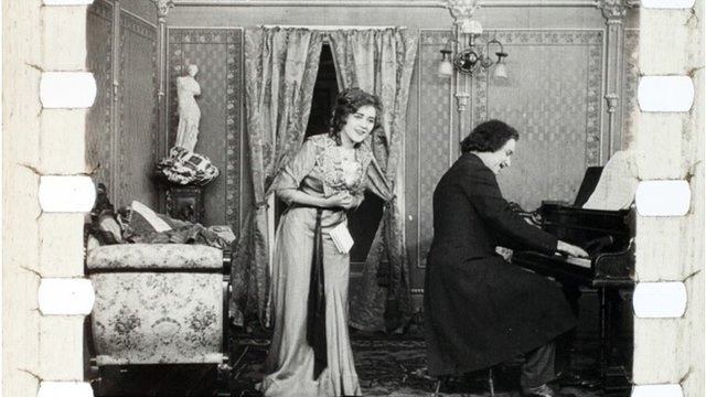 a still from the Mary Pickford footage discovered in a barn