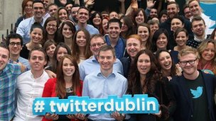 Twitter staff at Dublin office