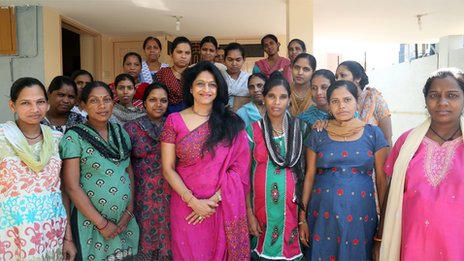 Dr Nayna Patel (front centre) and surrogate mothers
