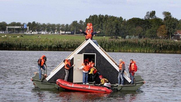 Netherlands flood rescue simulation